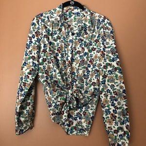 Vintage Levi's floral button down blouse